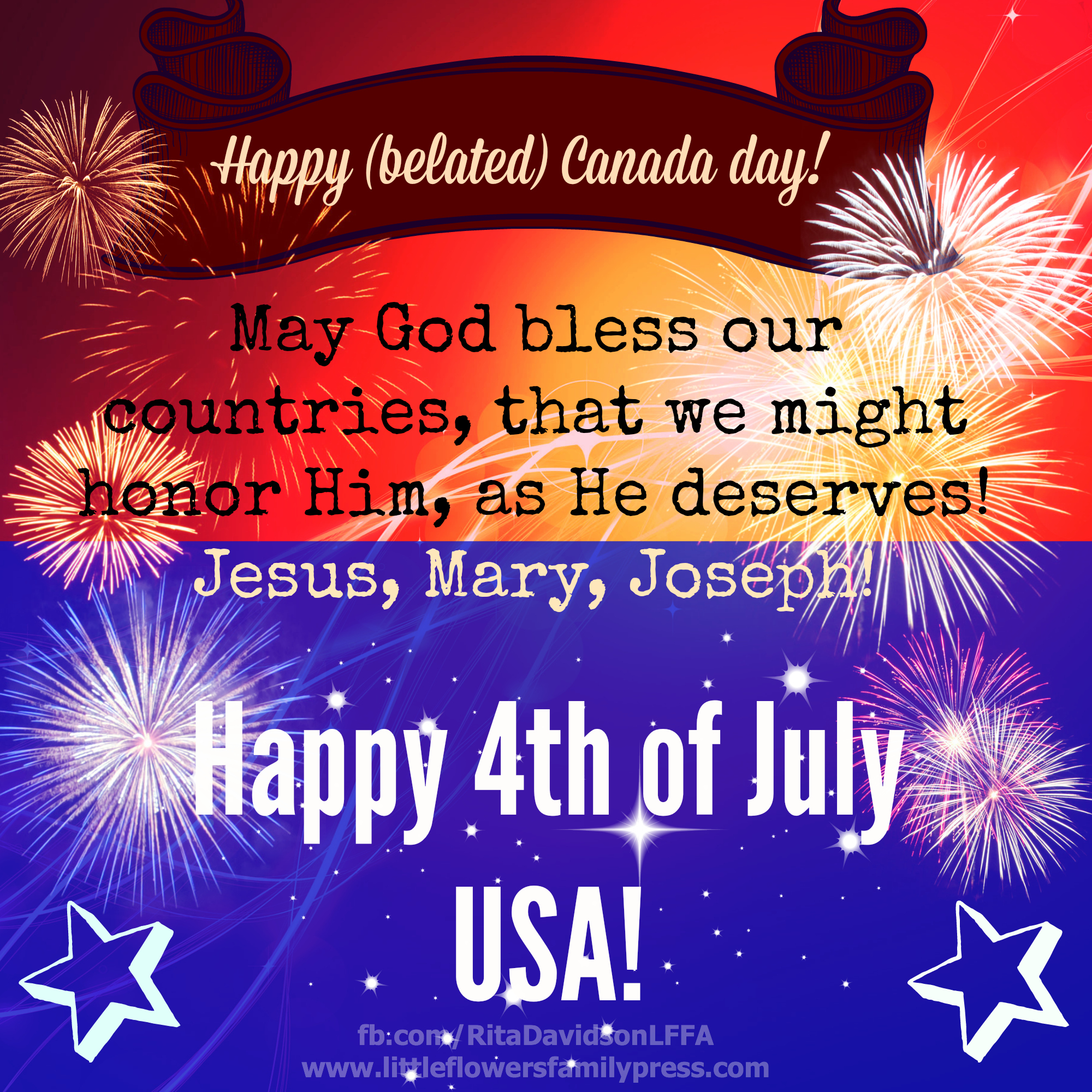 CanadaUSA DAY May God bless our countries!