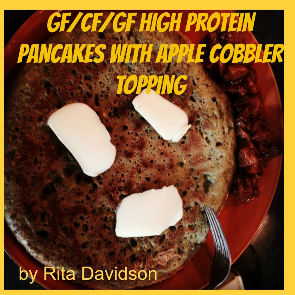 PancakeandAppleCobbler 1024x1024 GF/CF/GF High Protein Pancakes with Apple Cobbler Topping